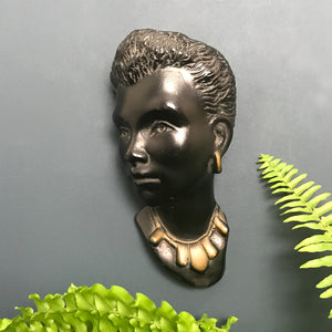 Vintage African Lady Wall Plaque #3
