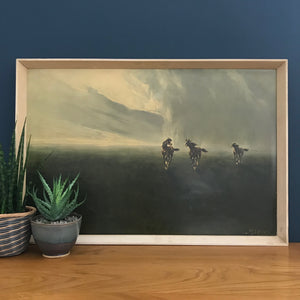 1960s Vintage Framed 'Horses in the Clouds' Print