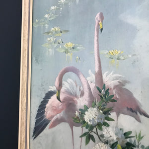 1960s Tropical 'Flamingo Pink' Pastel Picture