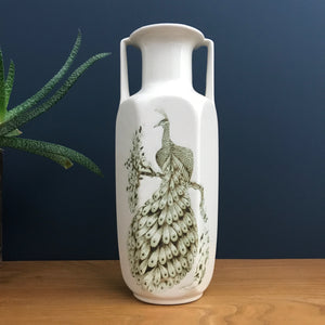 Vintage Ceramic Peacock Vase (large)
