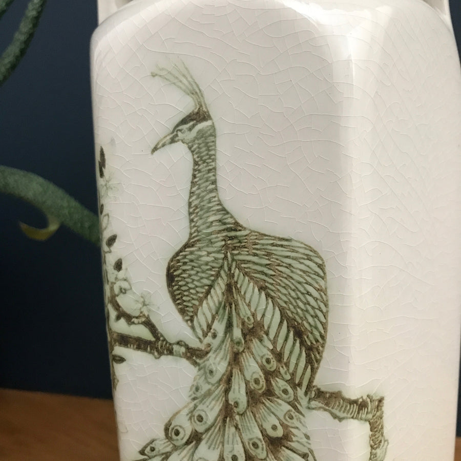 Vintage Ceramic Peacock Vase (medium)