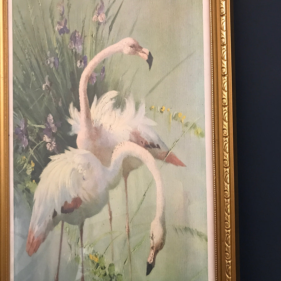 1960s Tropical 'Flamingo' Pastel Picture #1