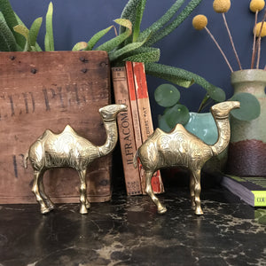 Mid Century Brass Camels