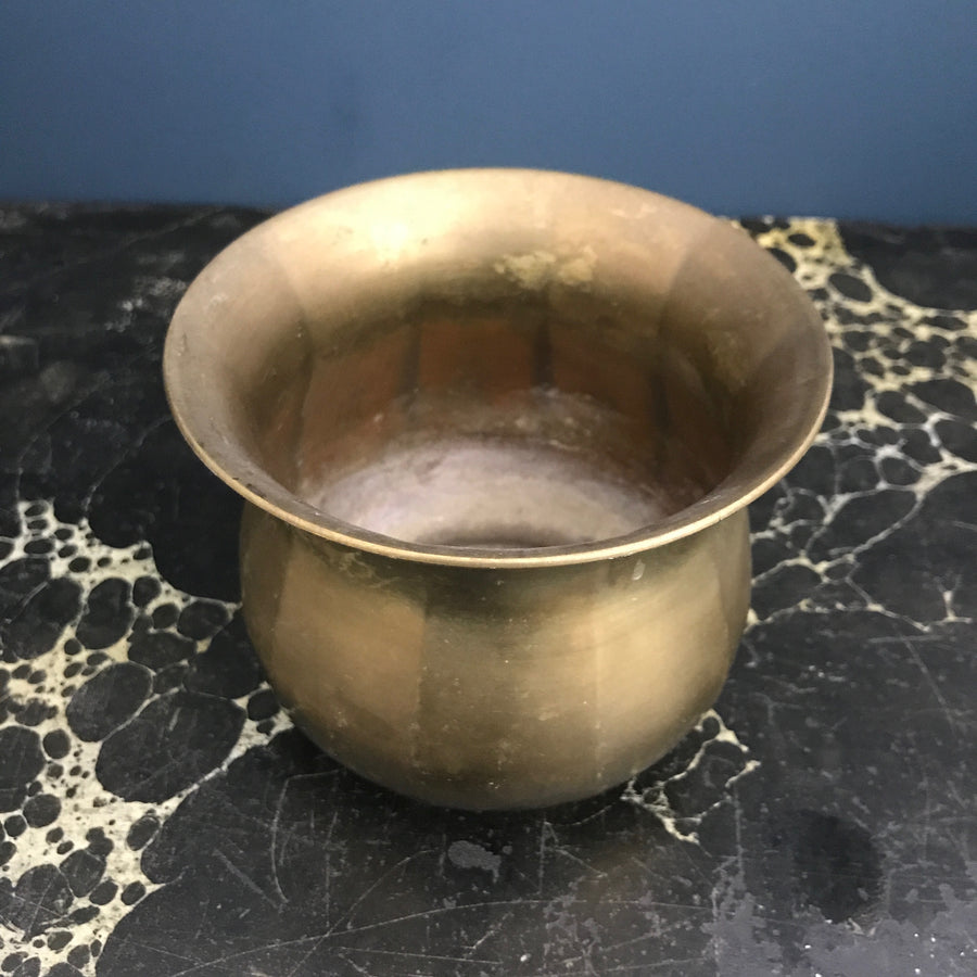 *Small* Vintage Brass Planter