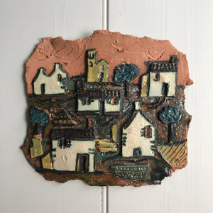 Mid Century Studio Pottery Wall Plaque #A1