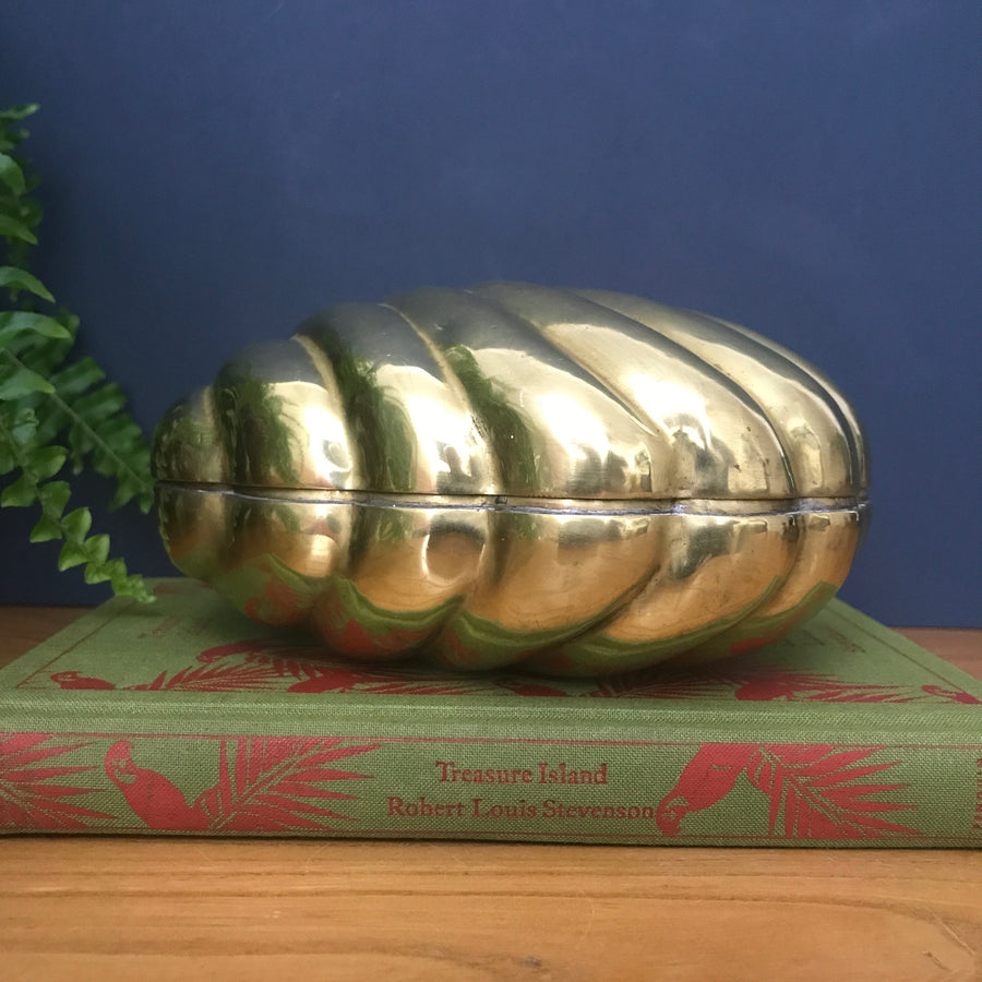 Mid Century Brass Clam Shell