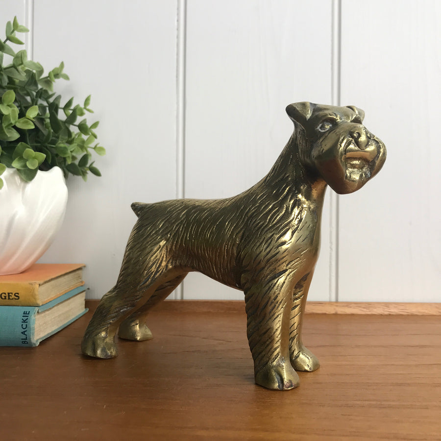 Mid Century Brass 'Terrier' Dog