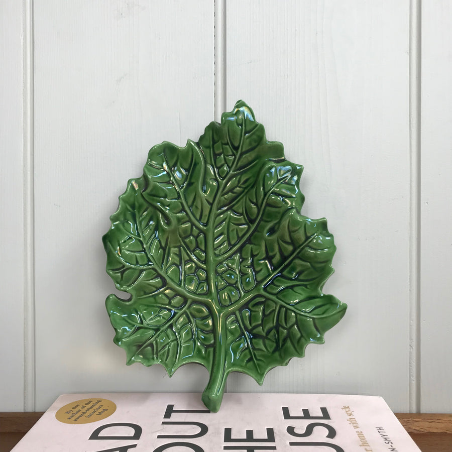 Vintage Cabbage Leaf Dish