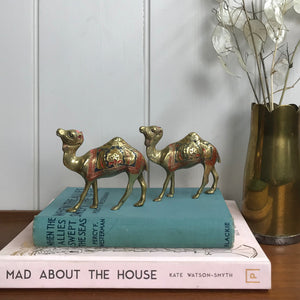 Petite Pair of Vintage Brass Camels