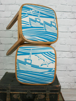 Pair of Mini Moderns 'Whitby' vintage beech stools