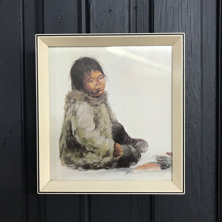 Vintage 'Sitting Child' Framed Print #2