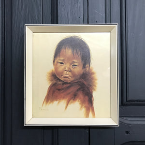 Vintage 'Crying Child' Framed Print #1