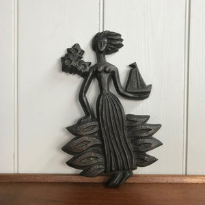 Mid Century Latvian Metal Wall Plaque