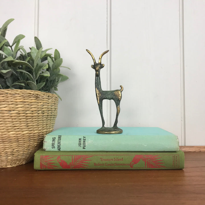Mid Century Bronze Gazelle - Small