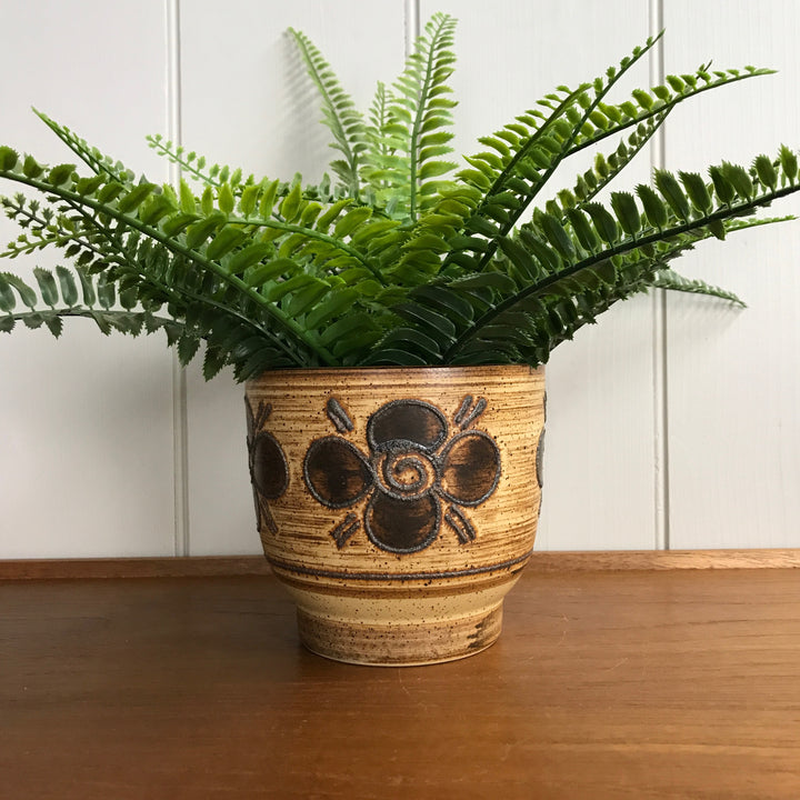 Mid Century 'Flower' Ceramic Planter #Large