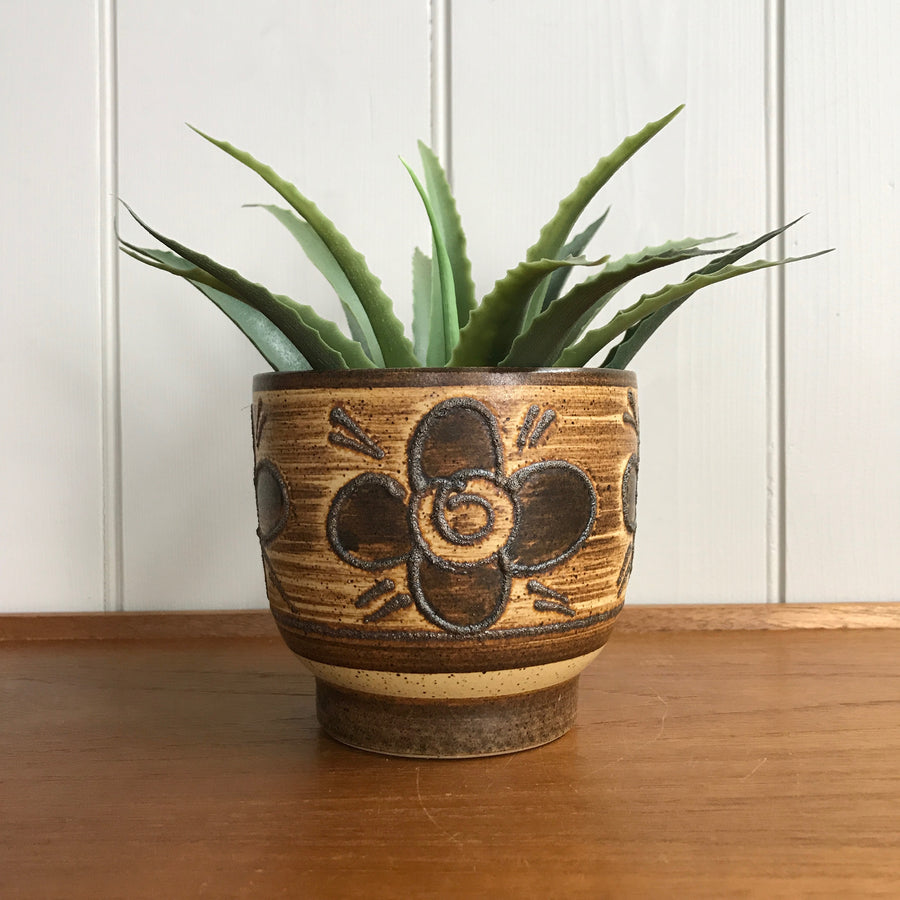Mid Century 'Flower' Ceramic Planter #Small