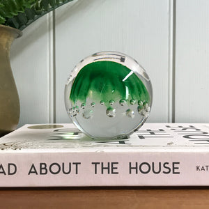 Mid Century Green 'Bubble' Paperweight/Ornament
