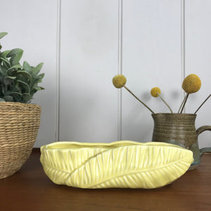 Yellow 'Leaf' SylvaC Ceramic Planter - Small