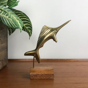 Mid Century Brass Sailfish
