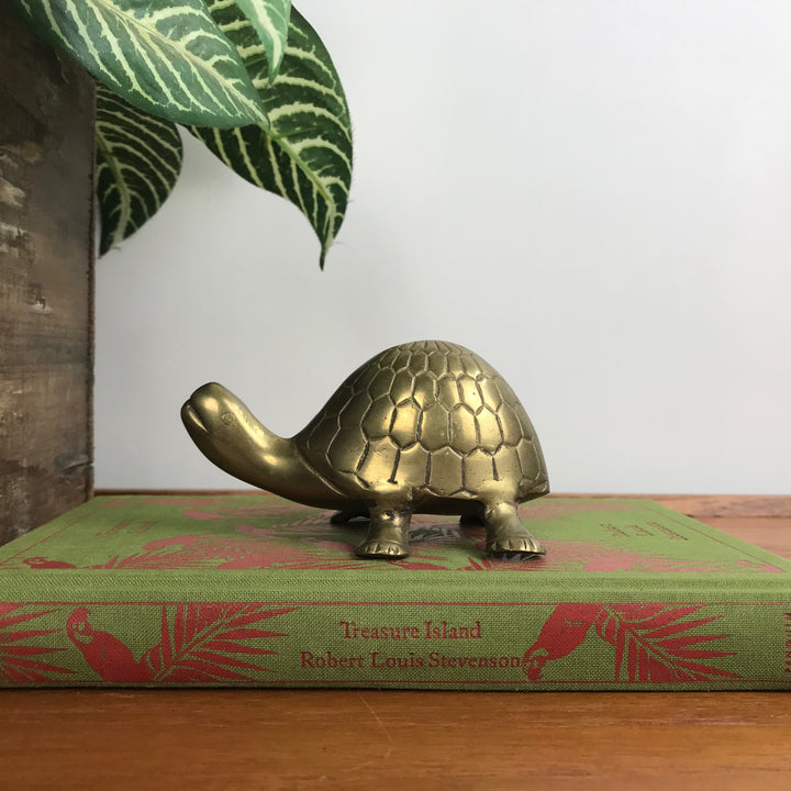 Vintage Brass Tortoise - Medium