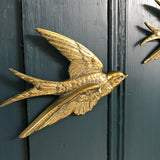 Brass Mid Century Flying Swallows - Trio