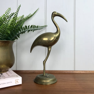 Mid Century Brass Flamingo - Large