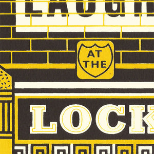'Locksmith' screenprint by James Brown
