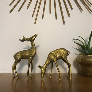MEDIUM Vintage Brass Pair of Deer #A01