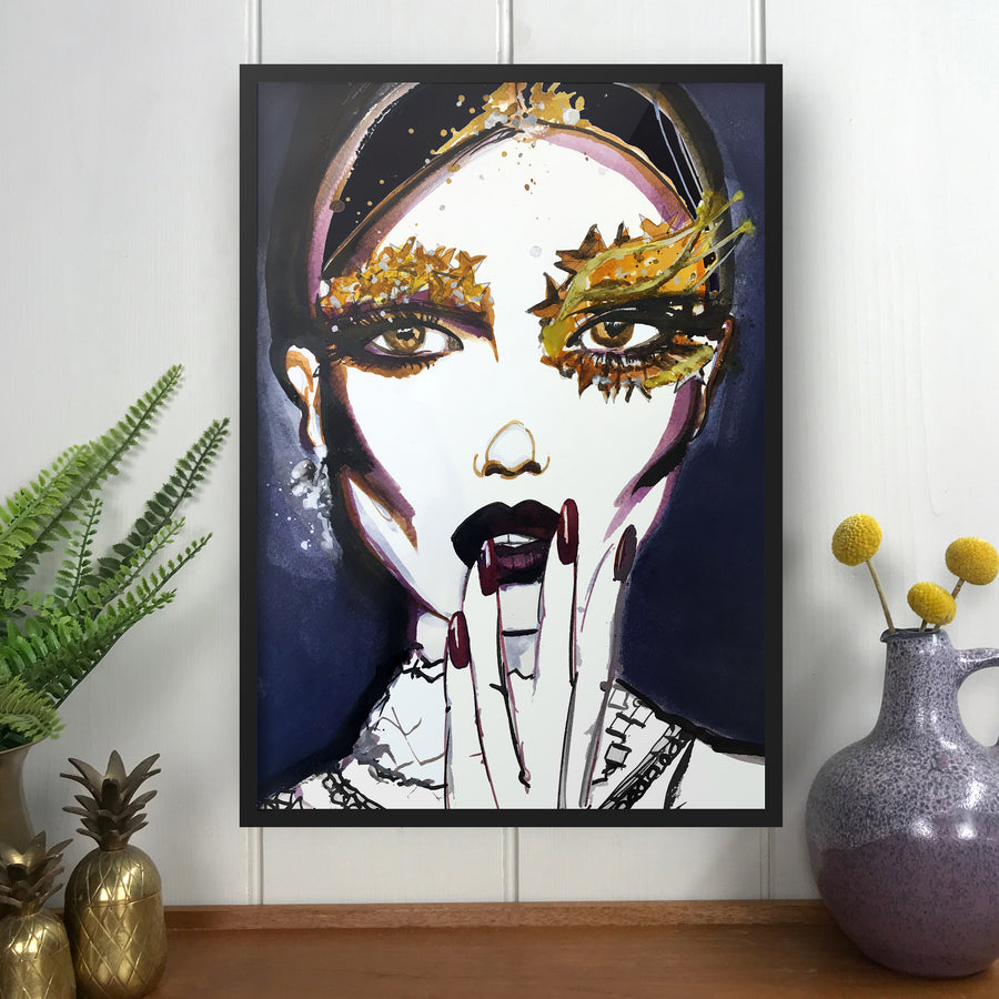 BEAUTY IS EVERYTHING Amy Beager Giclée Print on a light white interior