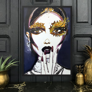 BEAUTY IS EVERYTHING Amy Beager Giclée Print on a dark interior