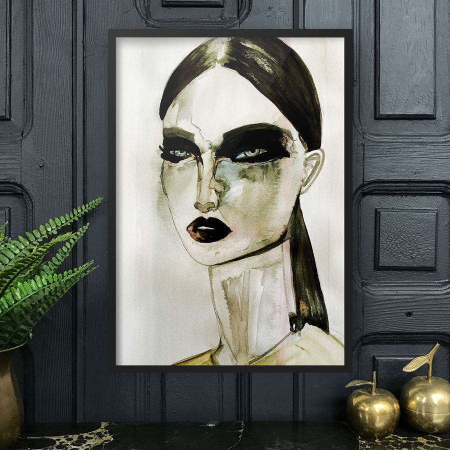 GIVENCHY Amy Beager Giclée Print on a dark interior