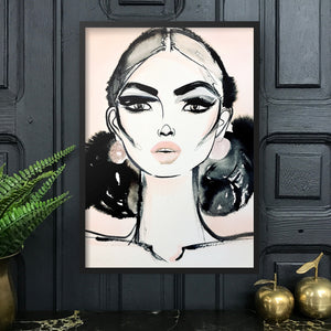 LACE Amy Beager Giclée Print in a dark interior