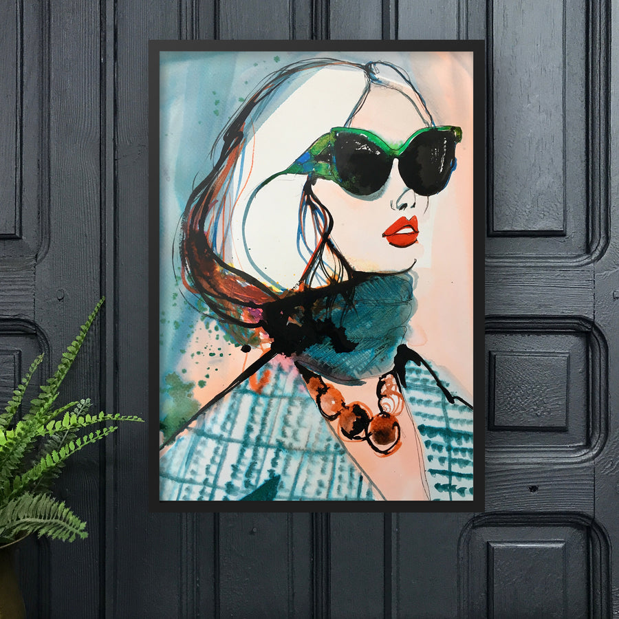 PRADA Amy Beager Giclée Print on dark interior