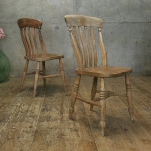 antique_rustic_elm_lath_back_country_kitchen_chairs