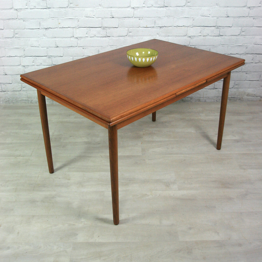 Vintage Danish Teak Extending Dining Table