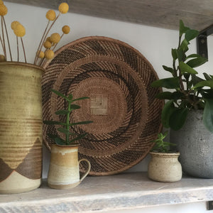 Vintage Handmade Ethnic African Basket / Natural Wall Art #9