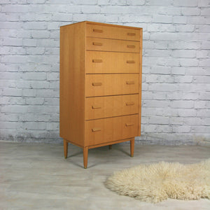 Vintage 1950s E-Gomme Tallboy Chest of Drawers