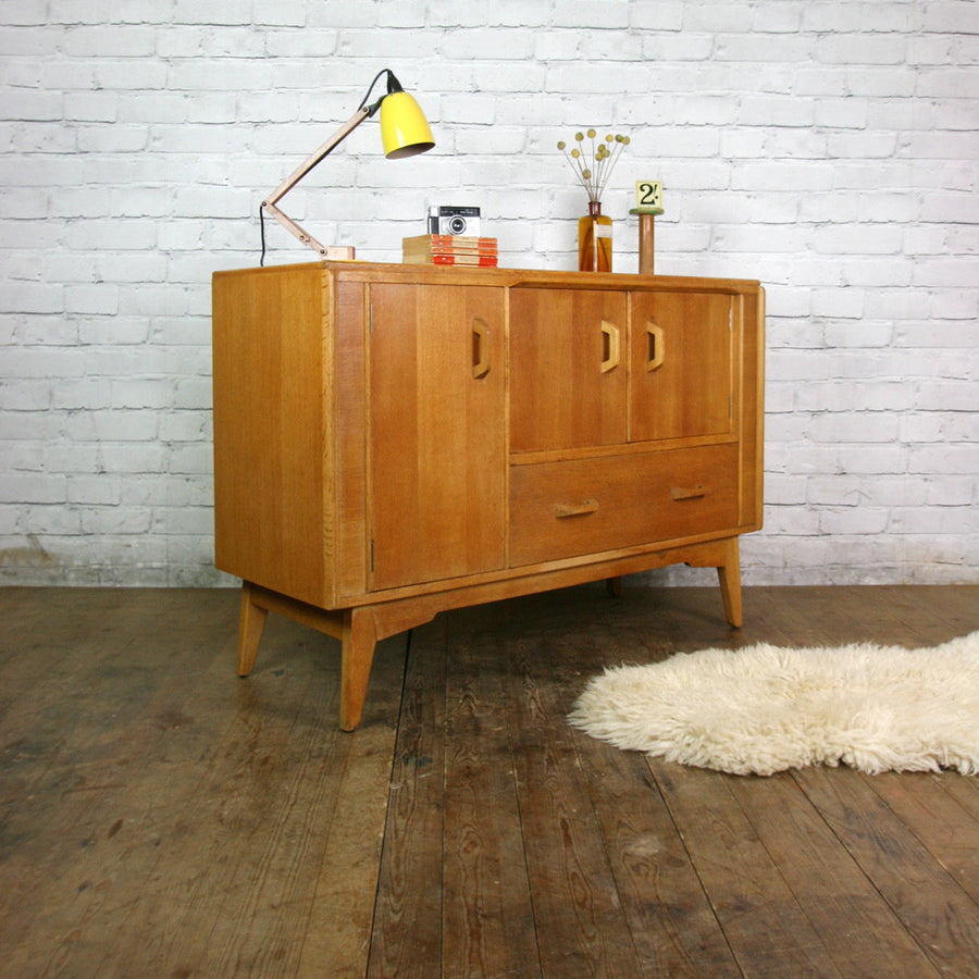 Mid Century E-Gomme G-Plan Small Brandon Oak Sideboard