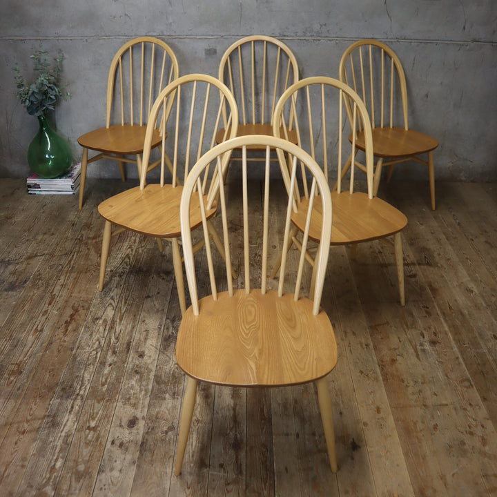 X6 Ercol Windsor Dining Chairs – 1405c