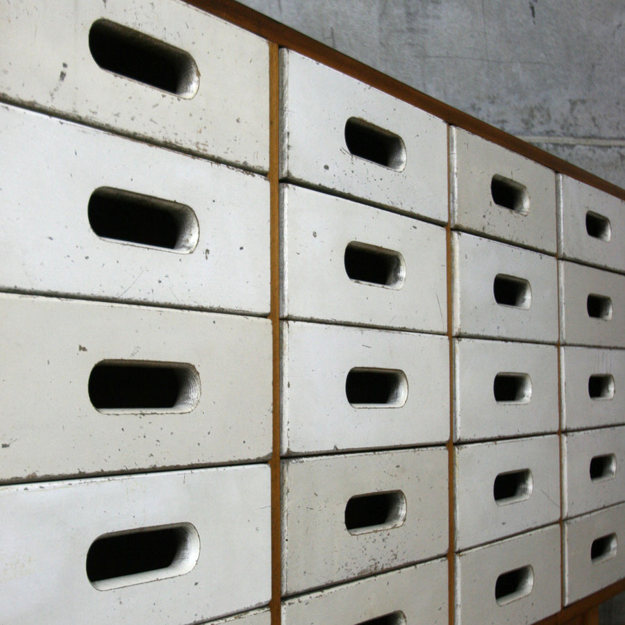 Vintage Esavian James Leonard School Drawers