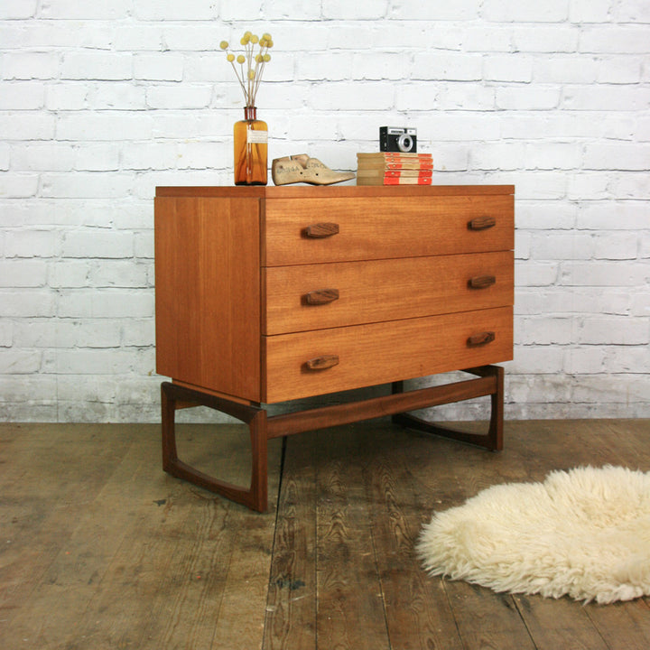 G Plan Quadrille Mid Century Teak Chest of Drawers