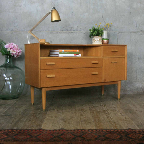 Mid Century Oak Dressing Table / Chest of Drawers