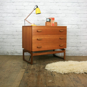 Vintage G Plan Quadrille Teak Chest of Drawers