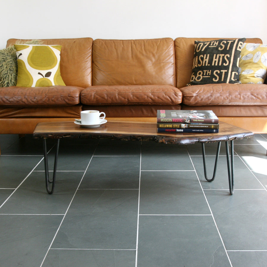 Solid Walnut Hairpin Leg Coffee Table