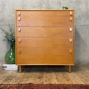 Mid Century Meredew Oak Chest of Drawers – 1803l