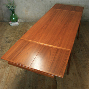 Rare Johannes Andersen Teak Extending Dining Table - 1802i