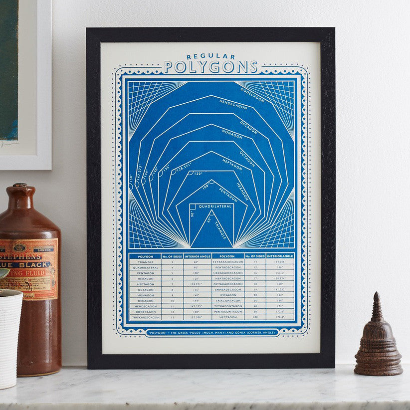 'Polygons' screenprint by James Brown