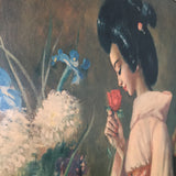 john_gilroy_oriental_lady_vintage_mid_century_picture