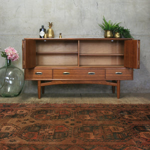 Mid Century E-Gomme Concertina Walnut Sideboard #0518