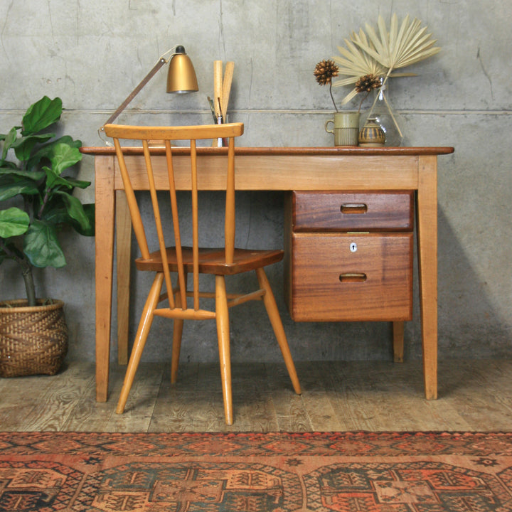 Mid Century Kandya School Teachers Desk #2103c3